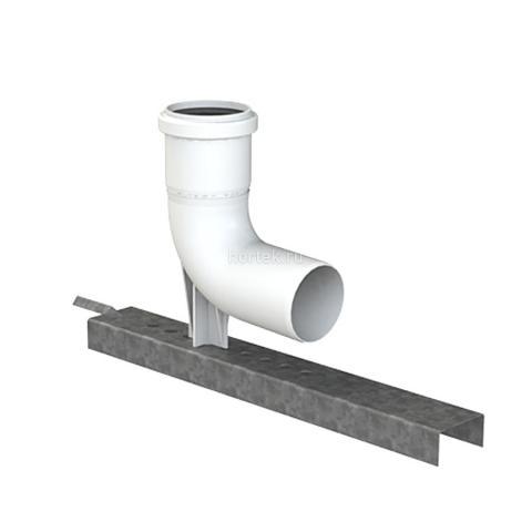 Пластиковый дымоход, отвод с упором Ø 110, 87°