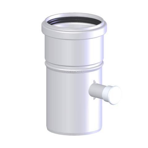 Участок трубы со штуцером для измерений Ø 125